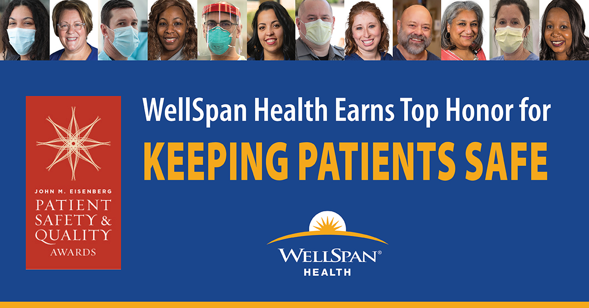 WellSpan Health earns John M. Eisenberg Patient Safety and Quality Award